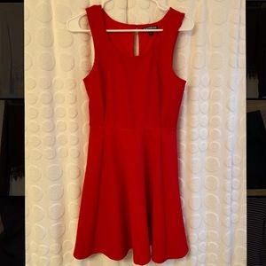 Fit and flare red Express dress